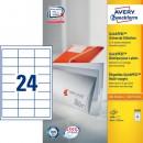 Universaletikett Zweckform Avery 3658 64,6x33,8mm 2400st/fpk (Miljö)