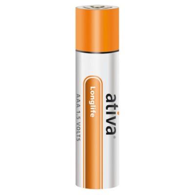 Batteri Ativa Alkaline AAA LR03 6st/fpk