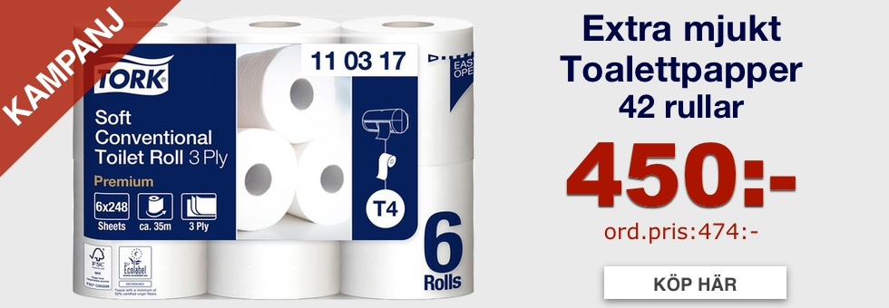 Toalettpapper Tork T4 Premium 3-lager Extra Mjukt